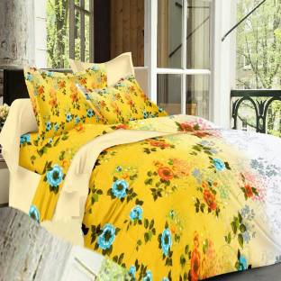 Always Plus Cotton Floral Double Bedsheet