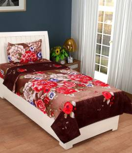 VAS COLLECTIONS Polycotton Printed Single Bedsheet