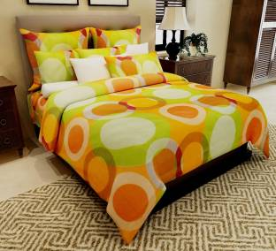 Home Candy Cotton Polka Double Bedsheet