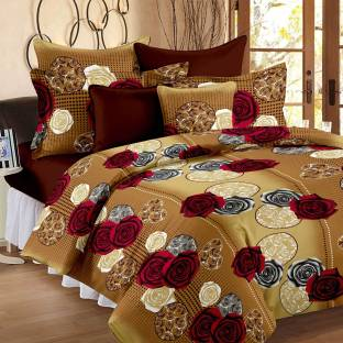 Story@home Cotton Floral Double Bedsheet