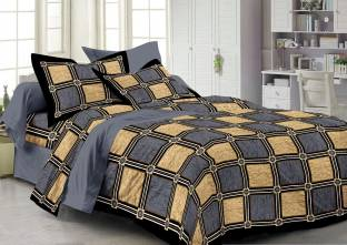 Story@home Cotton Checkered Double Bedsheet