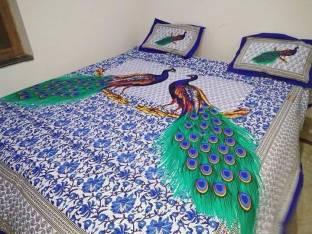 Rajwada Fabrics Cotton Printed King sized Double Bedsheet