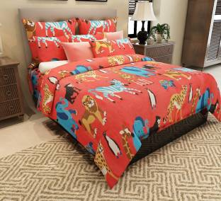 Home Candy Cotton Cartoon Double Bedsheet