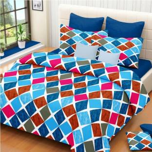Always Plus Cotton Geometric Double Bedsheet
