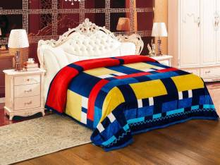 Signature Checkered Double Blanket Multi Colour