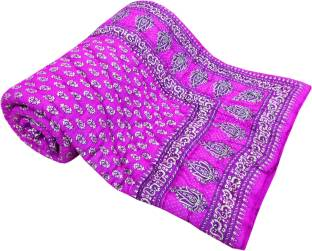 Shop Rajasthan Paisley Single Quilts & Comforters Pink