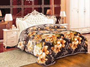 Signature Floral Double Blanket Multi Colour