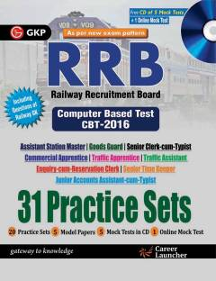 31 Practice Sets To RRB computer based test cbt-2016 with mock test in cd(english)