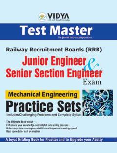 RRB Junior – Senior Section Engineer Exam Mechanical Engineering Practice Sets