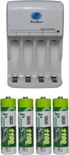 पावर स्मार्ट फास्ट यूनिट PS345 कॉम्बो चार्ज के साथ 1100mahx4 ए.ए. कोशिकाओं कैमरा बैटरी चार्जर