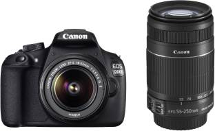 Canon EOS 1200D (Body with 8 GB Card & Bag EF S18-55 IS II+55-250mm IS II) DSLR Camera