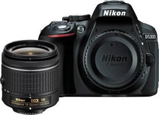 Nikon D5300 DSLR Camera Body with Single Lens: AF P DX NIKKOR 18 55 mm f/3.5 5.6G VR Kit  16  GB SD Car...