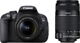 Canon EOS 700D (Body with EF S18 - 55 mm IS II and EF S55 - 250 mm IS II) DSLR Camera
