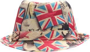 5934ee9bb84 FabSeasons Unisex Printed Fancy Fedora Hat Cap