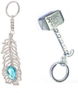 6e02a49ce Optimus traders The Avengers Thor hammer 3d silver Metal Keychain ...