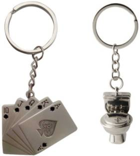 Anishop Pocker Playing Cards And Potty Box Key Chain