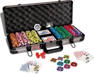 casinoite monster bluff clay 500 poker chip set toy - Poker Chips Set
