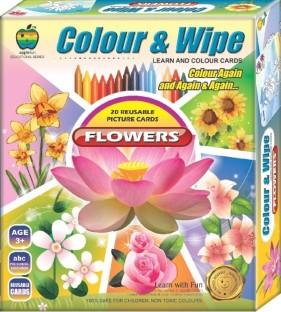 Apple Fun Colour U0026 Wipe Flowers ...