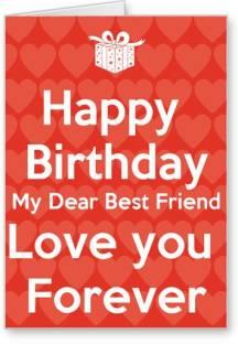 Lolprint Happy Birthday Best Friend Greeting Card