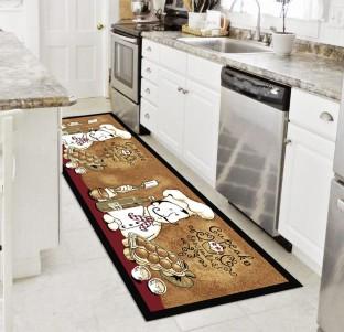 status brown nylon area rug