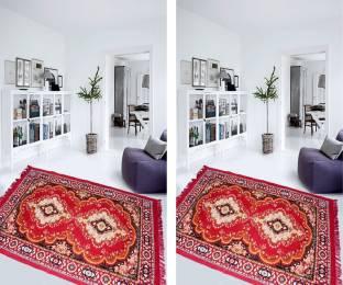 Aazeem Maroon Polyester Carpet