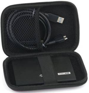 "De-TechInn Pouch for HDD 2.5"" Protective Carrying Cover Bag for External Hard Disk"