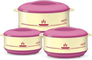 Milton Buffet Junior Set  0.45/0.82/1.55 ltrs   insulated Plastic   Kitchen Hot Food Pack of 3 Thermoware Casserole Set 420 ml, 820 ml, 1550 ml