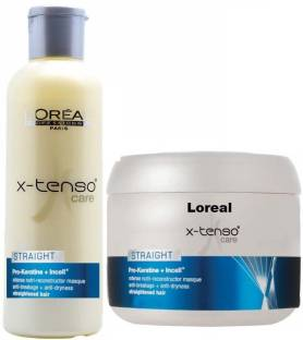 L'Oreal Paris X- tenso Care Straight Pro Keratin Shampoo and Mask