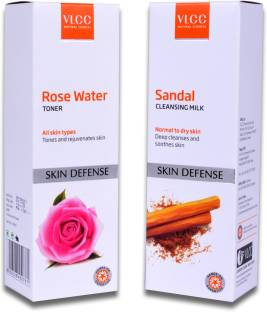 VLCC Rose Water Toner & Sandal Cleansing Milk