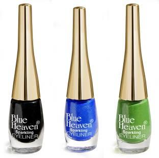 BLUE HEAVEN Combo Of 3 Sparkeling Eyeliner