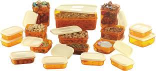 MasterCook 17 Pieces Orange - 200 ml, 330 ml, 1630 ml, 150 ml, 500 ml, 700 ml Polypropylene Food Storage