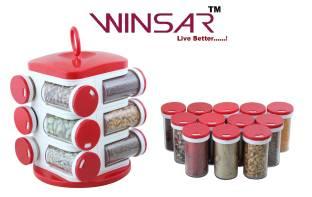 Winsar Rx 12 Pcs. Masala Rack - 2 dozen Polypropylene Spice Container