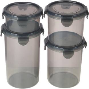 Bel Casa Lock & Store Round - 300 ml, 600 ml, 900 ml, 1230 ml Polypropylene Multi-purpose Storage Container