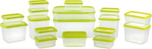 Joyo 17 Pieces - 1800 ml, 750 ml, 600 ml, 400 ml, 250 ml, 125 ml Plastic Food Storage