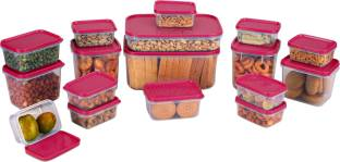 Joyo 17 Pieces - 1800 ml, 750 ml, 600 ml, 400 ml, 200 ml, 100 ml Plastic Food Storage