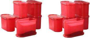 Tallboy Mahaware(microwaveable safe) space saver Candy Red - 1200 ml Polypropylene Multi-purpose Storage Container