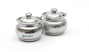 Coconut Coated Ghee Pot - 250 ml Stainless Steel Food Storage