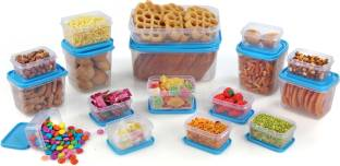 Joyo 17 Pieces - 1800 ml, 750 ml, 600 ml, 400 ml, 250 ml, 125 ml Plastic Food Storage