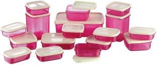 MasterCook 17 Pieces Pink - 200 ml, 330 ml, 1630 ml, 150 ml, 500 ml, 700 ml Polypropylene Food Storage