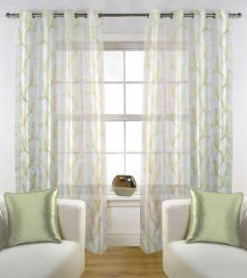 StoryHome Polyester Door Curtain 215 Cm 7 Ft Pack Of 2