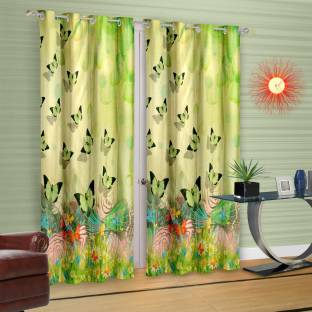 Jbg Home Store 274 Inch 9 Ft Polyester Long Door Curtain Pack Of