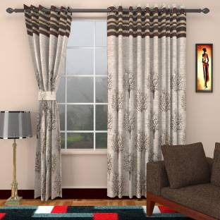 Home Sizzler Polyester Long Door Curtain 275 Cm 9 Ft Pack Of 2