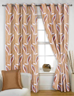 Story@Home Polyester Multicolor Printed Eyelet Window Curtain