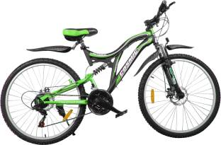 24597ae85f6 COSMIC VOYAGER 21 SPEED MTB BICYCLE BLACK/GREEN-PREMIUM EDITION 26 T  Mountain Cycle