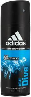 ADIDAS Ice dive Deodorant Spray  -  For Men