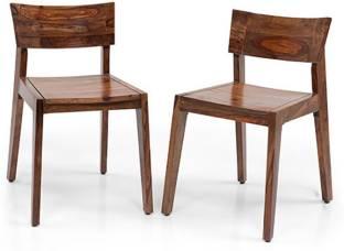 Urban Ladder Sheesham Wood Solid Wood Dining Chair Set of 1, Finish Color   Teak