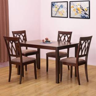 @home by Nilkamal PEAK Solid Wood Dining Set