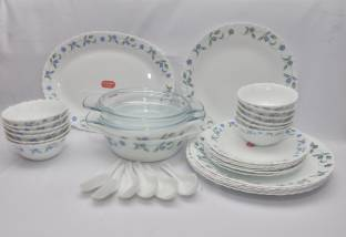La Opala Juniper Blue Pack of 33 Dinner Set
