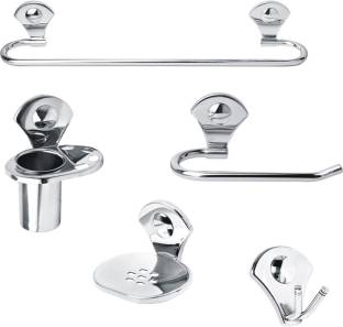 Handy 5 Pcs Stainless Steel Full Bath Sets Stainless Steel Bathroom Set