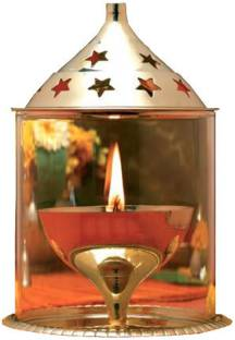 Sanshiv Akhand Jyot in Fine Quality Brass Brass, Glass Table Diya